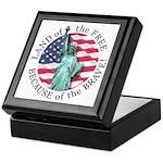 America Free and Brave Keepsake Box