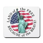 America Free and Brave Mousepad