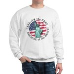 America Free and Brave Sweatshirt