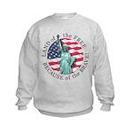 America Free and Brave Kids Sweatshirt