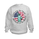America Free and Brave Kids Sweatshirt