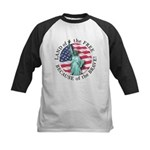America Free and Brave Kids Baseball Jersey