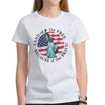 America Free and Brave Women's T-Shirt