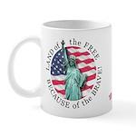 America Free and Brave Mug