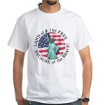 America Free and Brave White T-Shirt