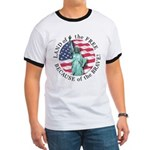 America Free and Brave Ringer T