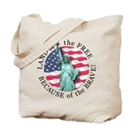 America Free and Brave Tote Bag