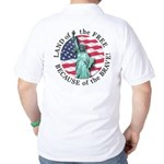 America Free and Brave Golf Shirt