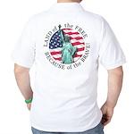 America Free and Brave Golf Shirt