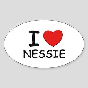 I love nessie Oval Sticker