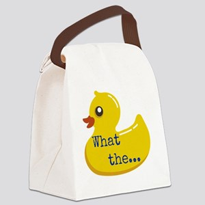 What the..... Duck Canvas Lunch Bag