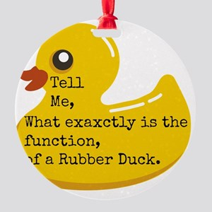 Rubber Duck, Function Round Ornament