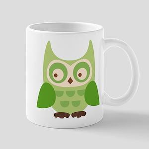 Green Owl Mugs