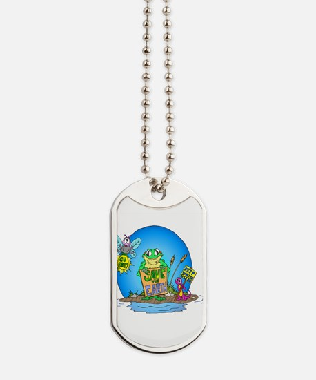 Earthday in the Swamp Dog Tags