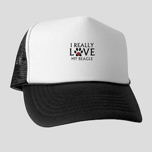 I Really Love My Beagle Trucker Hat
