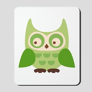 Green Owl Mousepad