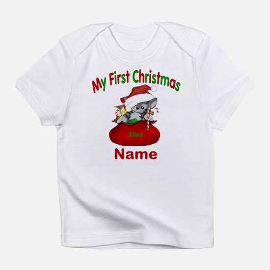 1st Christmas Kitty Personalized Infant T-Shirt