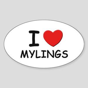 I love mylings Oval Sticker