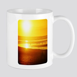 sunset and sea birds Mugs