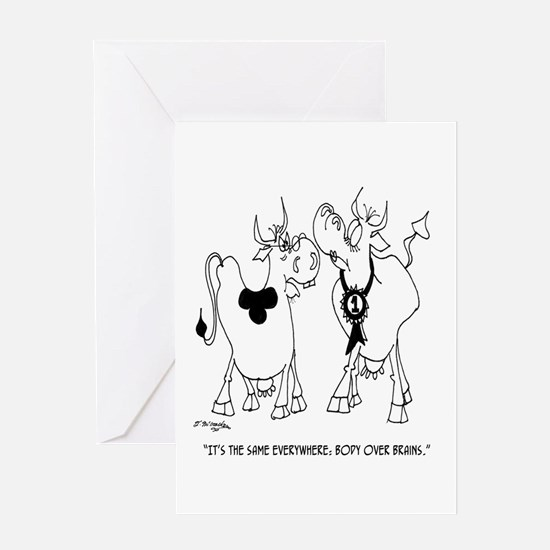 Body Over Brains In Cows Greeting Card