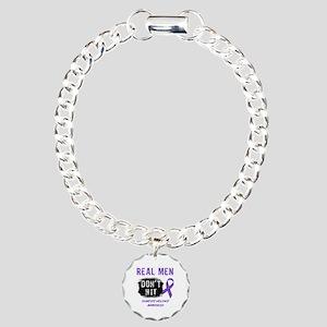 Domestic Violence Awareness Charm Bracelet, One Ch