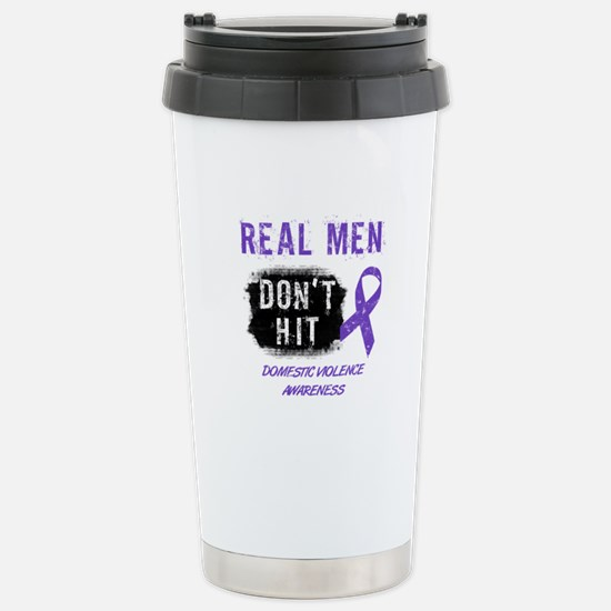 Domestic Violence Awareness Stainless Steel Travel