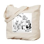 Cows on Coffee Break Tote Bag