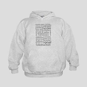 Netball word cloud Sweatshirt