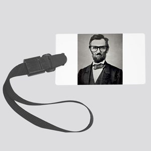 Hipster Abraham Lincoln Altered Art With Glasses a