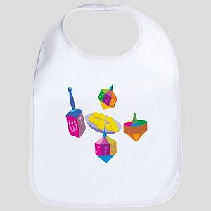 Hanukkah Design for Kids Bib