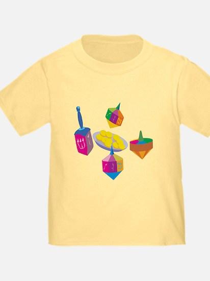 Hanukkah Design For Kids T-Shirt