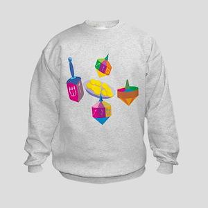 Hanukkah Design for Kids Sweatshirt