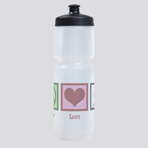 Peace Love Run Sports Bottle
