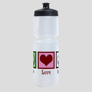 Peace Love Soccer Sports Bottle