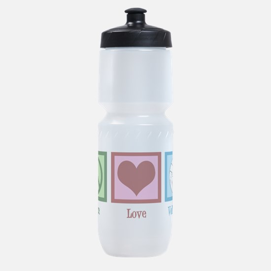 Peace Love Volleyball Sports Bottle