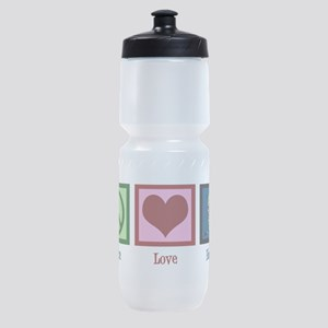 Peace Love Hockey Sports Bottle