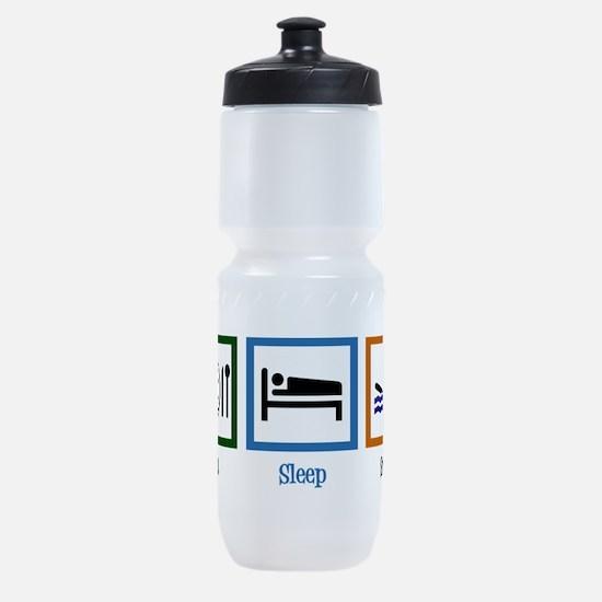 Eat Sleep Swim Sports Bottle
