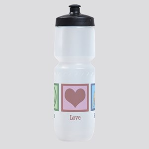 Peace Love Boxers Sports Bottle
