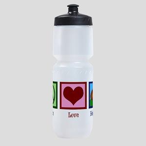 Peace Love Hedgehogs Sports Bottle