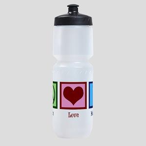 Peace Love Meerkats Sports Bottle