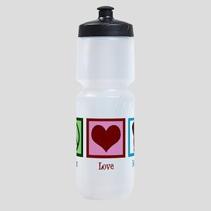 Peace Love Beavers Sports Bottle
