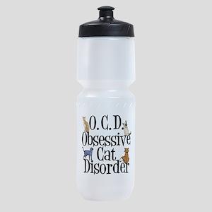 Obsessive Cat Disorder Sports Bottle