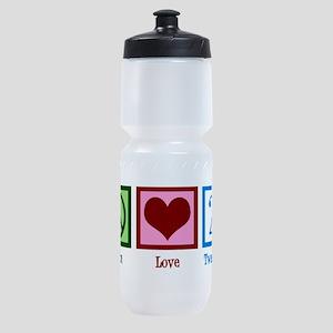 Peace Love 21 Sports Bottle