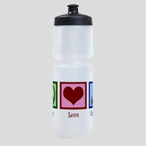 Peace Love Kayaking Sports Bottle