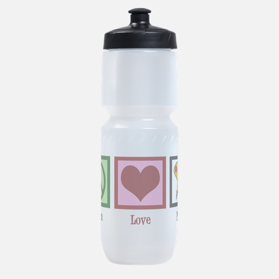 Peace Love Painting Sports Bottle