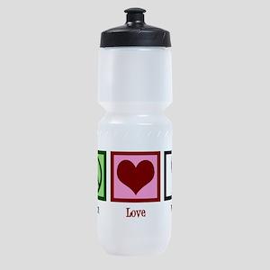 Peace Love Wine Sports Bottle