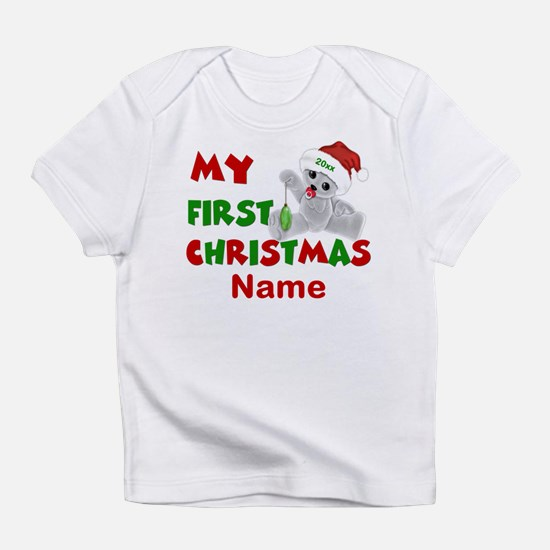 1st Christmas Bear Personalized Infant T-Shirt