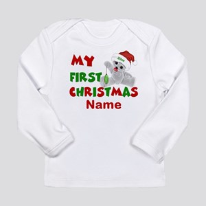 1st Christmas Bear Personalized Long Sleeve T-Shir