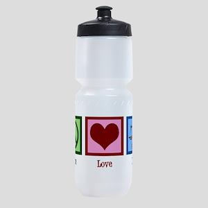 Peace Love Law Sports Bottle