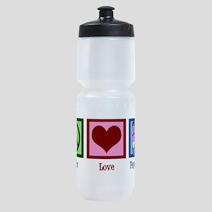 Peace Love Psychology Sports Bottle